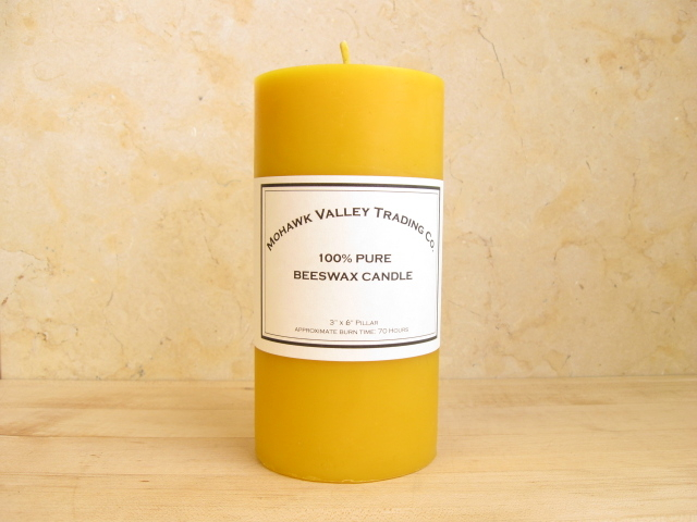 "100% Pure Beeswax Pillar Candle - 3"" X 6"""