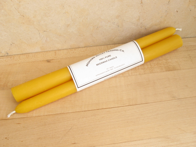 100% Pure Beeswax Taper Candles - 10""