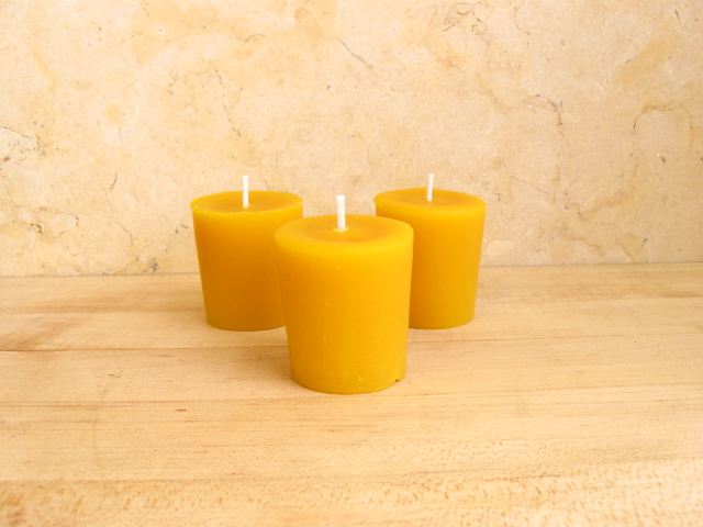 100% Pure Beeswax Votive Candles