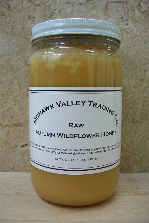 Raw Autumn Wildflower Honey, 2LB, 10oz., Glass Jar